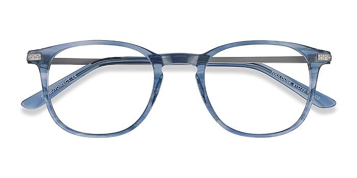 Blue Toulouse -  Colorful Acetate, Metal Eyeglasses