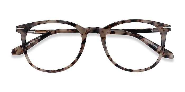 Ivory Tortoise Ninah -  Acetate, Metal Eyeglasses