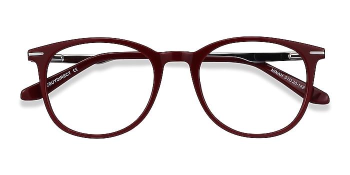 Burgundy Ninah -  Colorful Acetate, Metal Eyeglasses