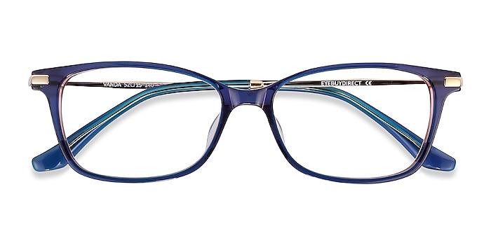 Bleu Vanda -  Légères Acetate, Metal Lunettes de vue