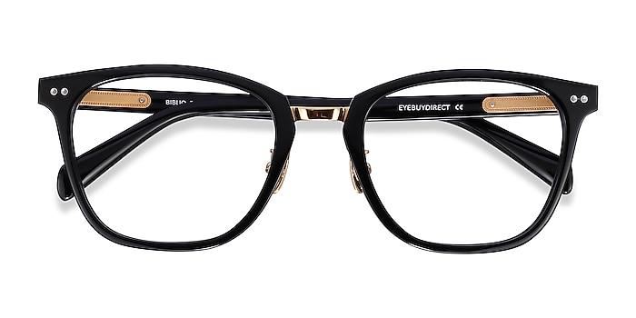Black Biblio -  Acetate, Metal Eyeglasses