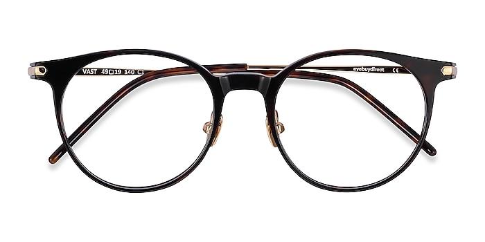 Tortoise Vast -  Lightweight Acetate, Metal Eyeglasses
