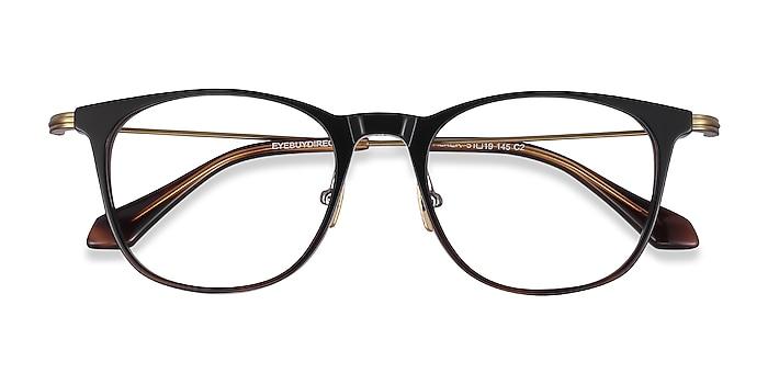 Black Brown Walker -  Fashion Acetate, Metal Eyeglasses