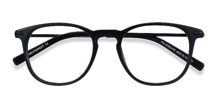 Black Villeneuve -  Lightweight Acetate, Metal Eyeglasses