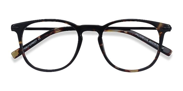 Tortoise Villeneuve -  Lightweight Acetate, Metal Eyeglasses