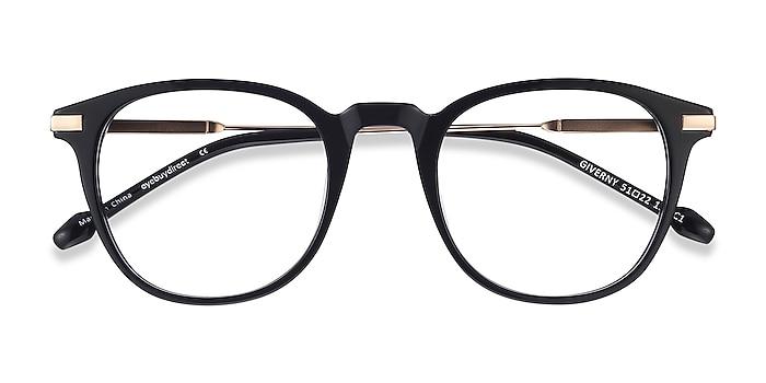 Black Giverny -  Fashion Acetate, Metal Eyeglasses