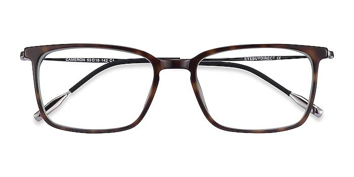 Tortoise Cameron -  Lightweight Acetate, Metal Eyeglasses