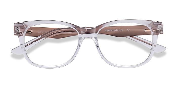 Clear Story -  Fashion Acetate, Metal Eyeglasses