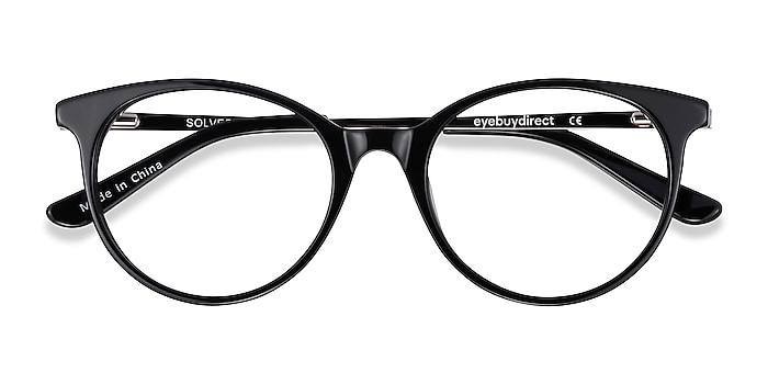 Black Solver -  Acetate, Metal Eyeglasses