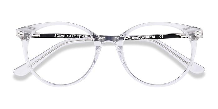 Clear Solver -  Acetate, Metal Eyeglasses