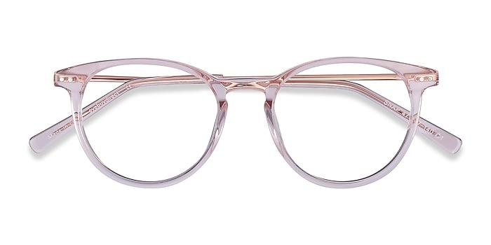 Pink Snap -  Lightweight Acetate, Metal Eyeglasses