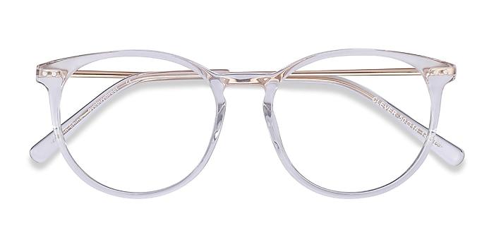 Clear Clever -  Lightweight Acetate, Metal Eyeglasses