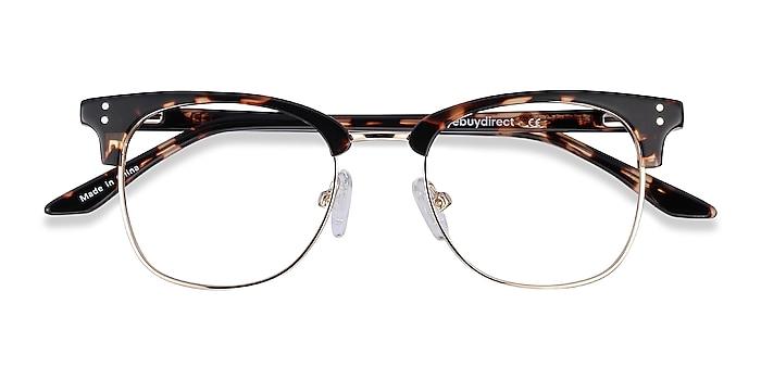 Tortoise Freestyle -  Vintage Acetate, Metal Eyeglasses