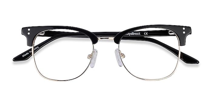 Black Freestyle -  Vintage Acetate, Metal Eyeglasses
