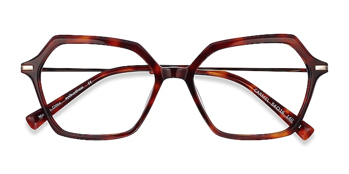 Tortoise Carmel -  Fashion Acetate, Metal Eyeglasses