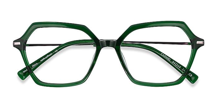 Green Carmel -  Colorful Acetate, Metal Eyeglasses