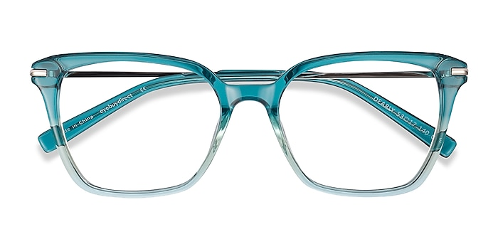Green Dearly -  Colorful Acetate, Metal Eyeglasses