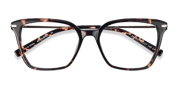 Tortoise Dearly -  Fashion Acetate, Metal Eyeglasses
