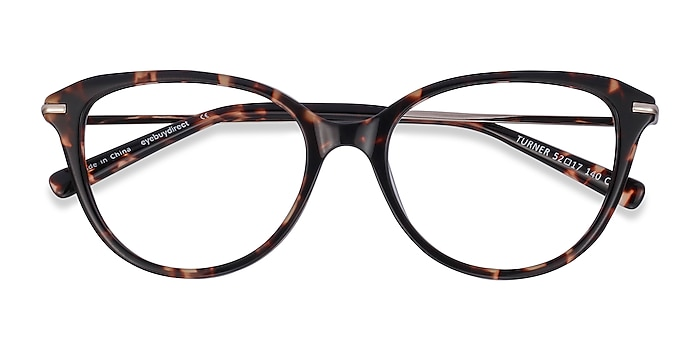 Tortoise Turner -  Lightweight Acetate, Metal Eyeglasses