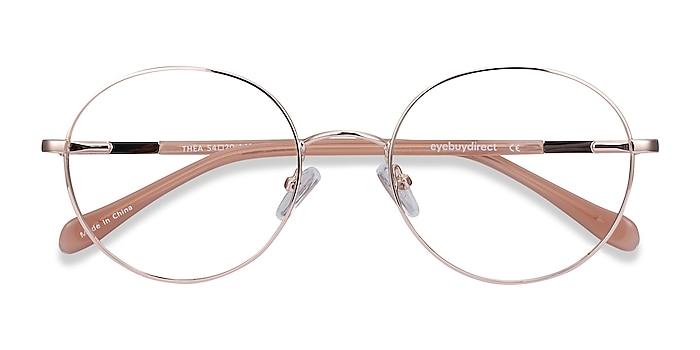 Rose Gold Thea -  Classic Acetate, Metal Eyeglasses