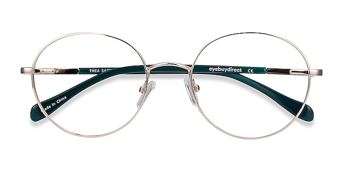 Gold Thea -  Vintage Acetate, Metal Eyeglasses