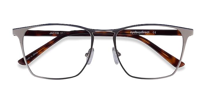 Gunmetal & Tortoise Jacob -  Acetate, Metal Eyeglasses