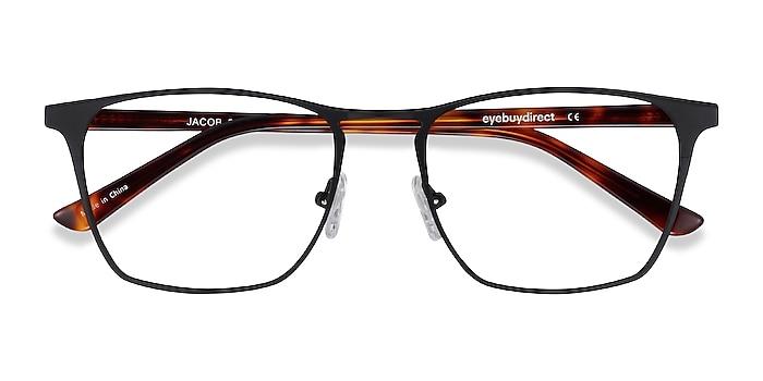 Black & Tortoise Jacob -  Acetate, Metal Eyeglasses