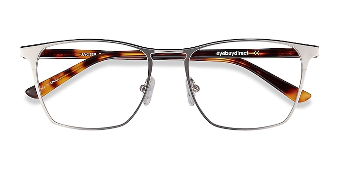 Silver & Tortoise Jacob -  Acetate, Metal Eyeglasses