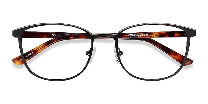 Black & Tortoise Guide -  Acetate, Metal Eyeglasses
