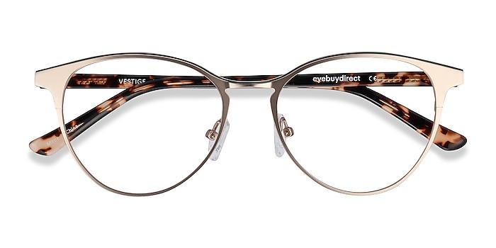 Gold & Tortoise Vestige -  Acetate, Metal Eyeglasses