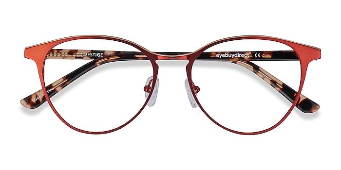 Red Vestige -  Acetate, Metal Eyeglasses