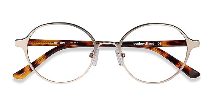 Gold & Tortoise Observer -  Acetate, Metal Eyeglasses