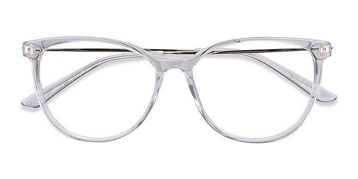 Clear Nebulous -  Lightweight Acetate, Metal Eyeglasses