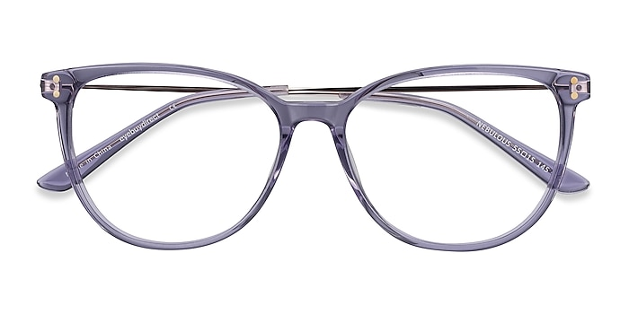 Clear Purple Nebulous -  Légères Acetate, Metal Lunettes de vue