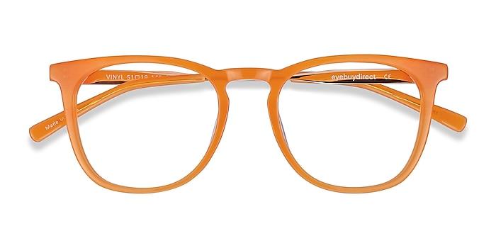 Orange Vinyl -  Geek Acetate, Metal Eyeglasses