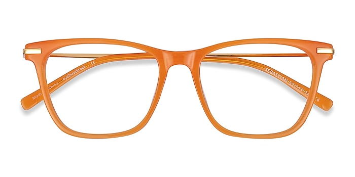 Orange Sebastian -  Fashion Acetate, Metal Eyeglasses