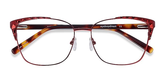 Red Signora -  Colorful Acetate, Metal Eyeglasses