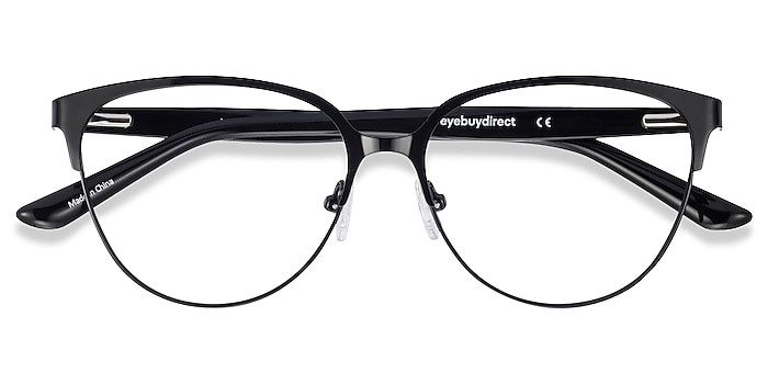 Black & Leopard Marigold -  Fashion Acetate, Metal Eyeglasses