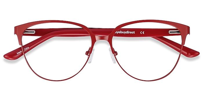 Red & Leopard Marigold -  Fashion Acetate, Metal Eyeglasses