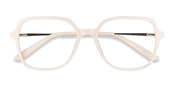 Cream Lenny -  Vintage Acetate, Metal Eyeglasses