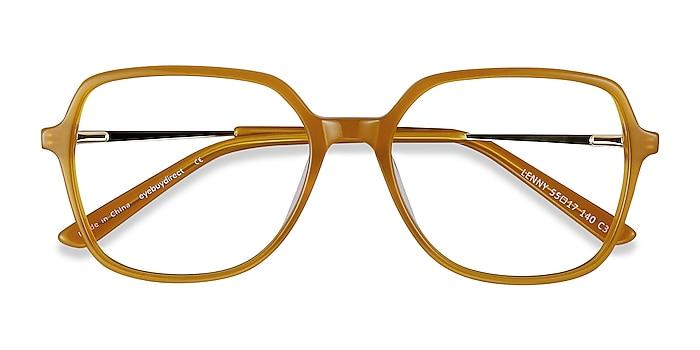 Mellow Yellow Lenny -  Vintage Acetate, Metal Eyeglasses