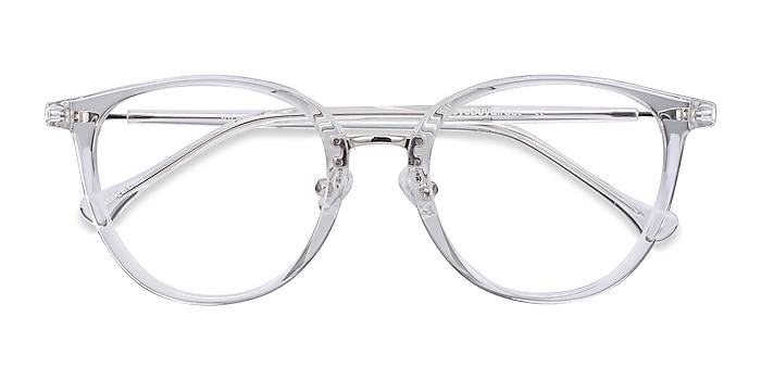 Clear Shelby -  Acetate, Metal Eyeglasses