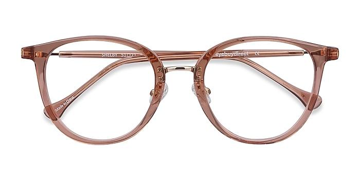 Clear Brown Shelby -  Acetate, Metal Eyeglasses