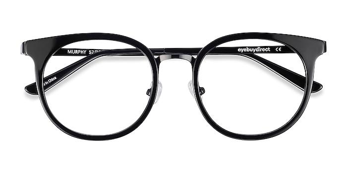 Black Murphy -  Vintage Acetate, Metal Eyeglasses