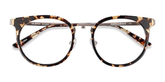 Tortoise Murphy -  Vintage Acetate, Metal Eyeglasses
