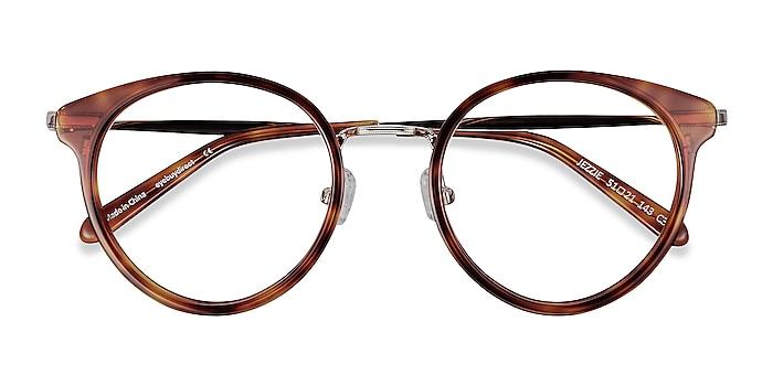 Tortoise & Gold Jezzie -  Vintage Acetate, Metal Eyeglasses