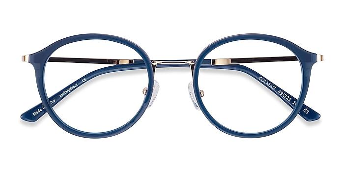 Navy Colman -  Acetate, Metal Eyeglasses