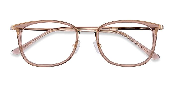 Clear Brown Barnaby -  Colorful Acetate, Metal Eyeglasses