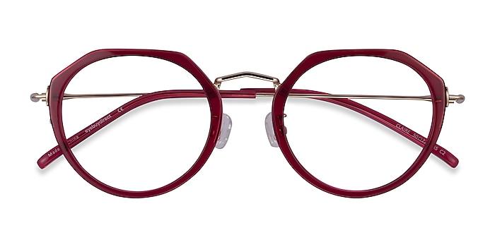 Raspberry  Gold Claire -  Acetate Eyeglasses