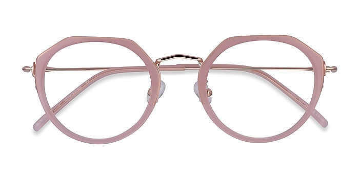Pink  Rose Gold Claire -  Acetate Eyeglasses